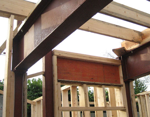 door+header-framing-steel+beams-and-steel+columns