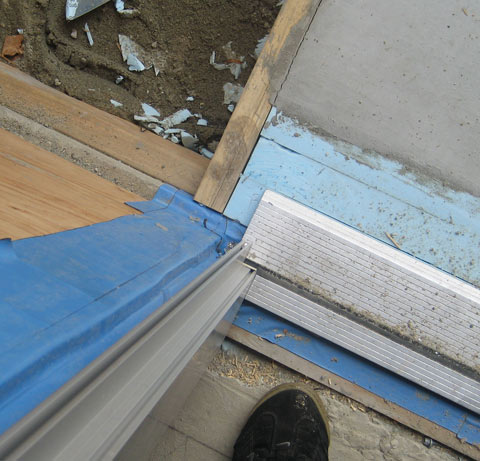 Detail Door Threshold Amp Flashing 171 Home Building In