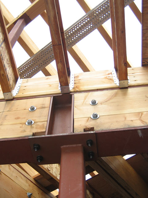 Steel Timber Connection 171 Home Building In Vancouver