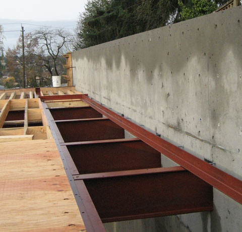 steel+beam-to-concrete+wall-foundation