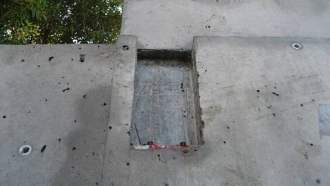 steel-beam-pocket-in-concrete-wall