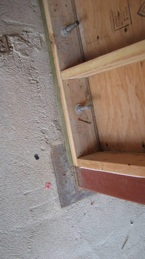 Bottom Plate To Slab : Sill plate on concrete slab bing images