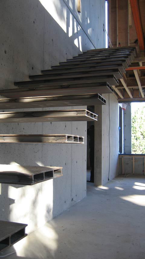 Detail Cantilevered Stair 171 Home Building In Vancouver