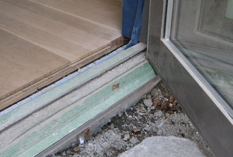 Detail Door Threshold 171 Home Building In Vancouver