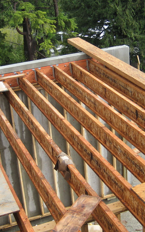 Structure Wood Beam At Concr 171 Home Building In Vancouver