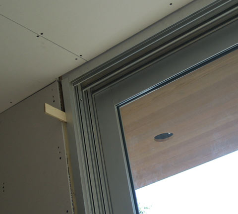 Detail cypress sliding door home building in vancouver for Sliding glass doors vancouver