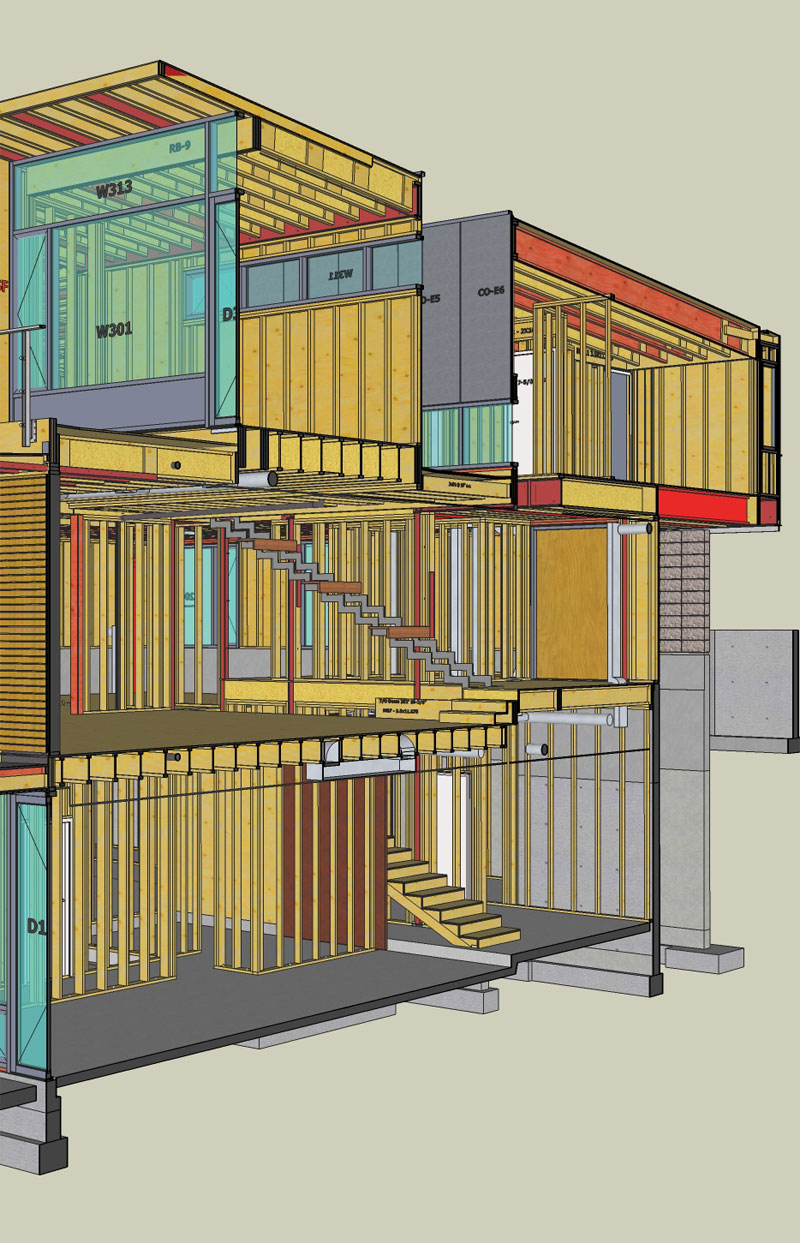 CYPRESS ST VIRTUAL CONSTRUCTION HOUSE FRAMING WITH SKETCHUP