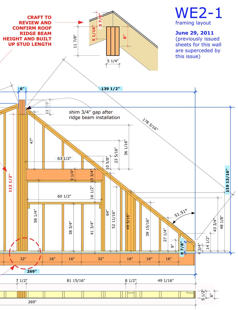 e46_wall framing shop drawings with sketchup layout closeup