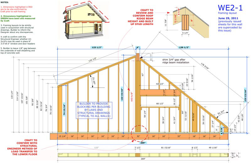 e46_wall framing shop drawings with sketchup layout studio