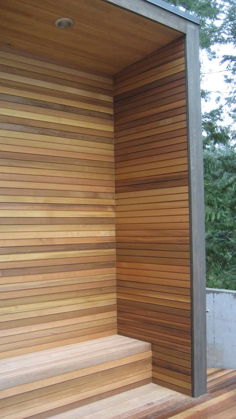 Detail wood siding home building in vancouver for Horizontal wood siding panels
