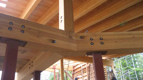 compound-glulam-beam-connection-to-steel-hss-columns
