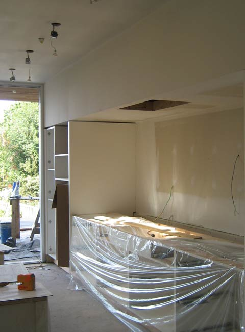 kitchen-bulkhead-framing-with-drywall