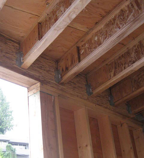 Structure Wood Beam Connection 171 Home Building In Vancouver