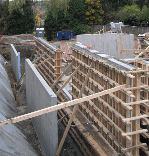 Foundation Walls Home Building In Vancouver