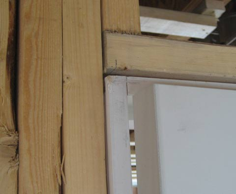 Detail Door Framing Interior Home Building In Vancouver
