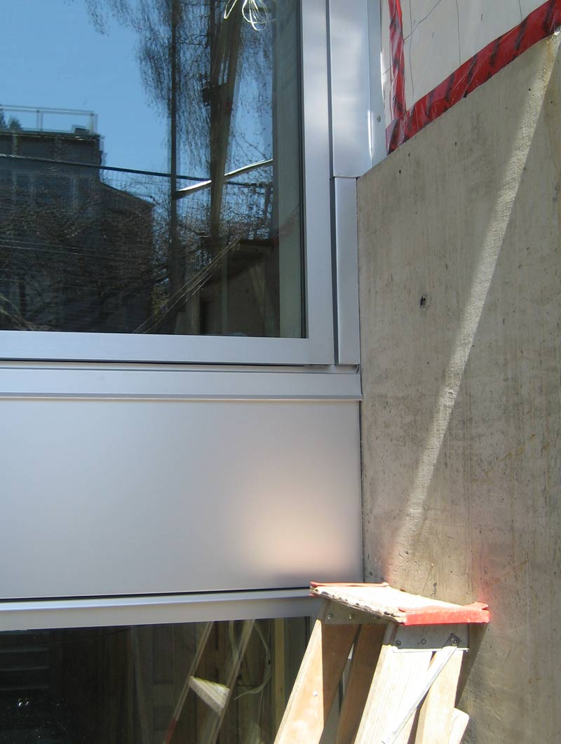 Anodized Aluminum Curtain Wall : Detail w th curtain wall « home building in vancouver