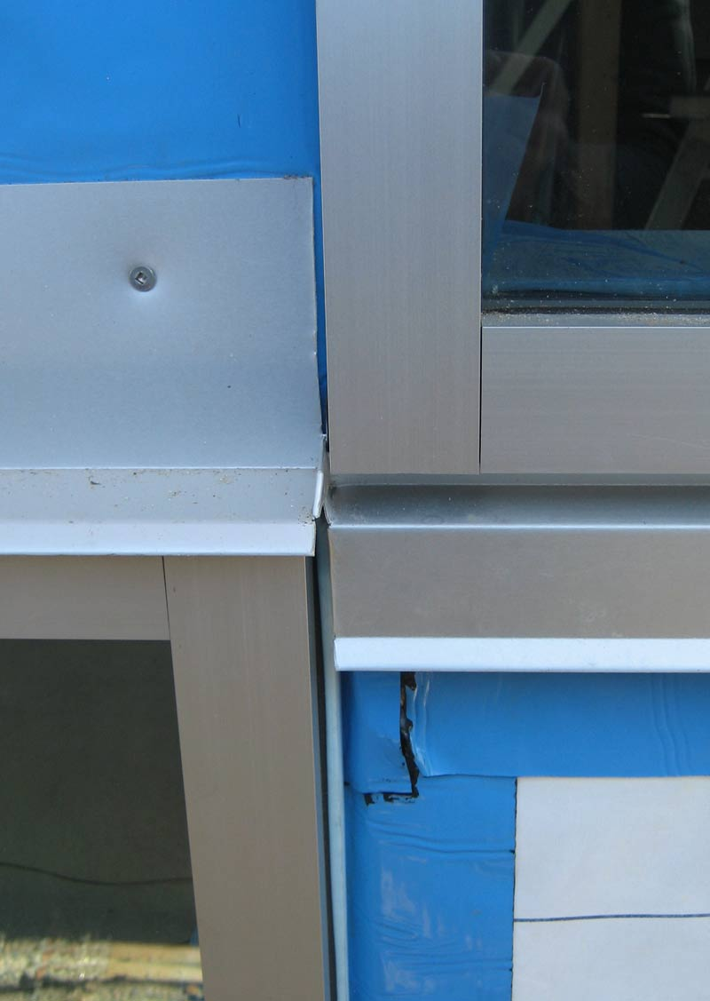 anodized-aluminum-window-frame-flashing-head-and-sill-corner-junction