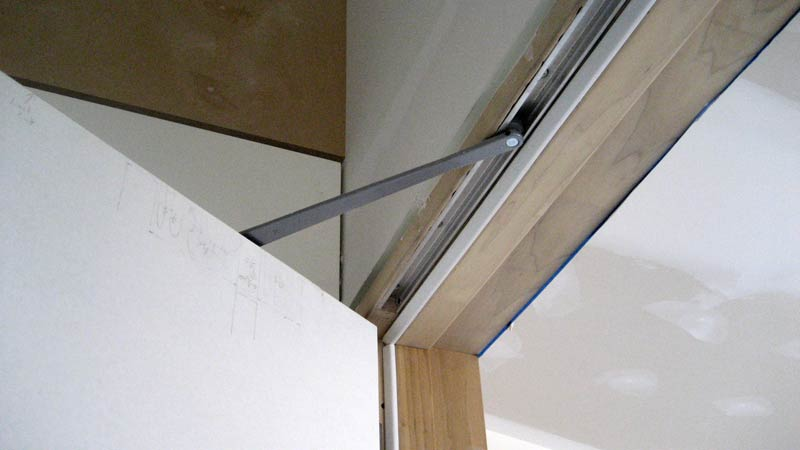 closer interior door frame and weatherstripping with