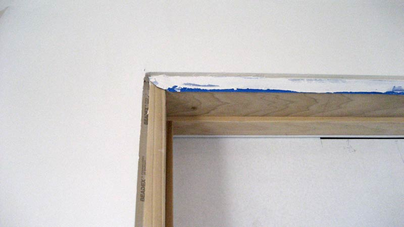 how to drywall a door frame 3