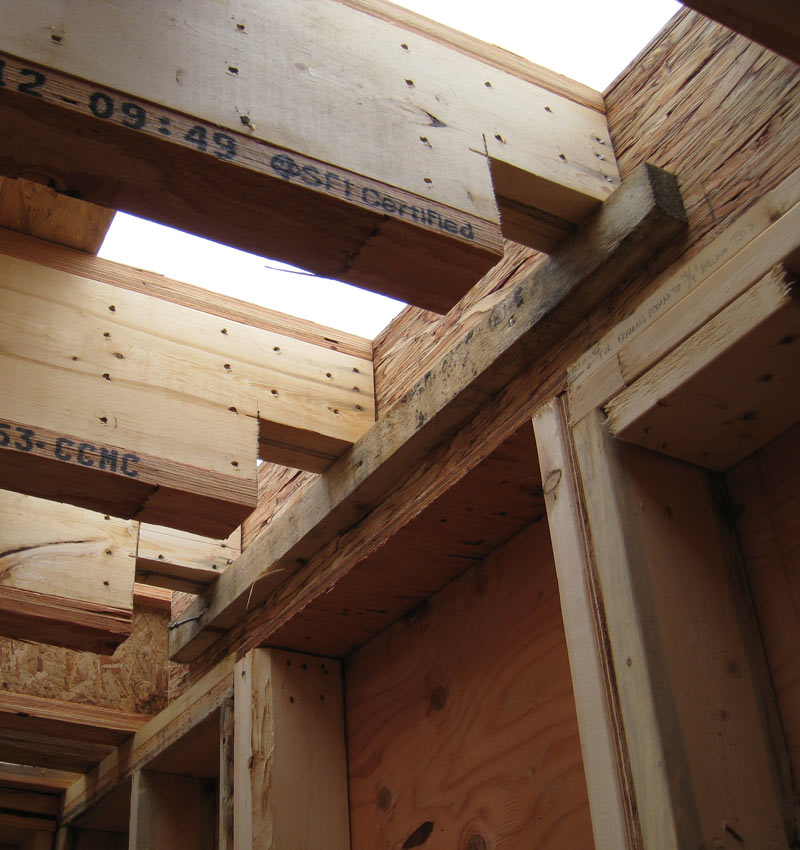 West van floor framing home building in vancouver for Notching a floor joist
