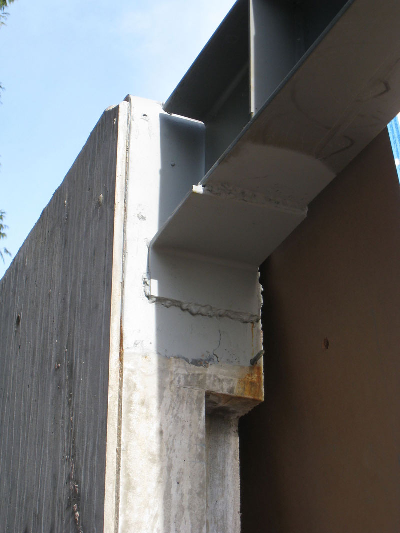 connection-between-steel-beam-and-concrete-wall