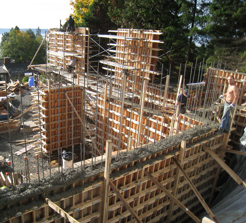 West Van Conc Formwork 171 Home Building In Vancouver