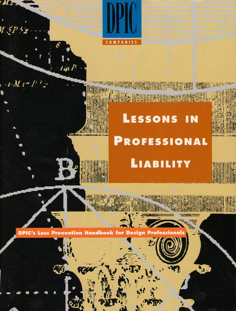 CONSTRUCTION-BOOKS--LESSONS-IN-PROFESSIONAL-LIABILITY