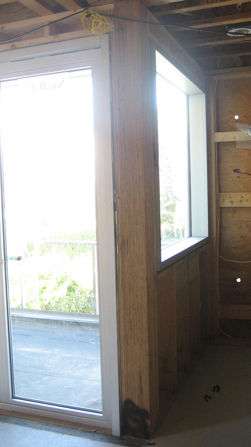 Nana Wall Door Frame Installed At Timber Corner