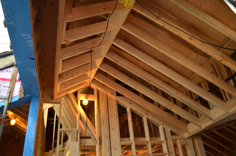 Dunbar framing home building in vancouver for Cathedral ceiling trusses