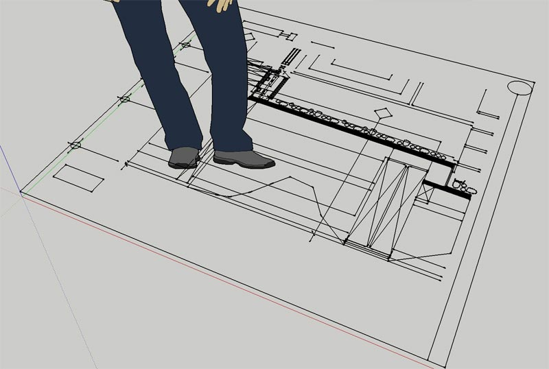 2-DWG-Line-drawing-imported-into-Sketchup