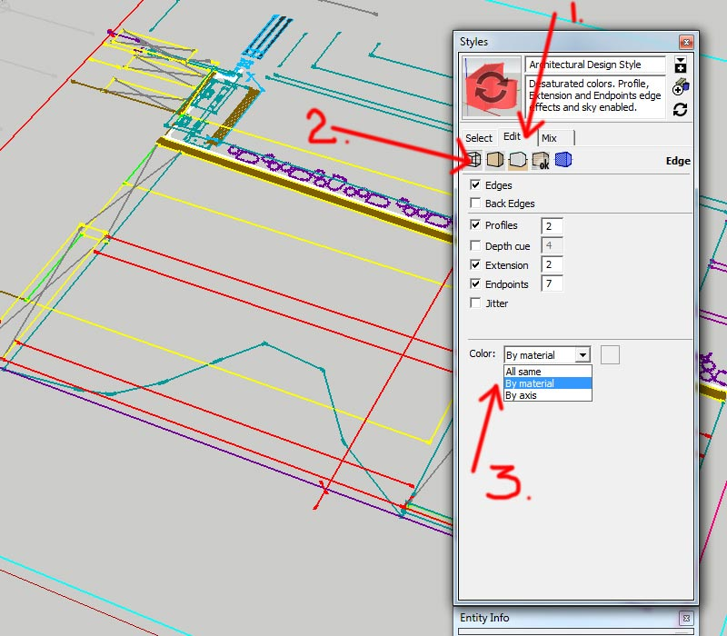 4.-Steps-for-adjusting-color-display-of-lines-in-Sketchup---importing-DWG-files-into-Sketchup