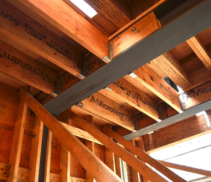 floor-framing---steel-and-wood-beams