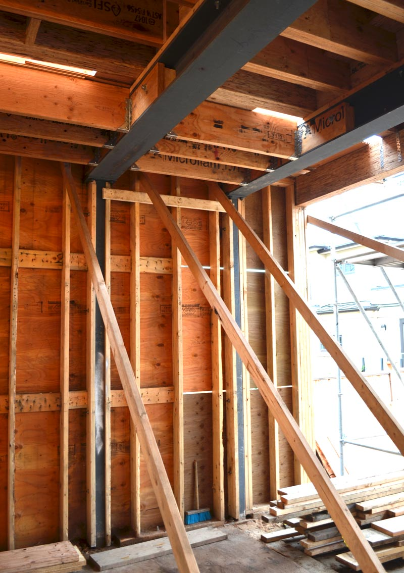 Wood Beam Construction ~ Case study point grey « home building in vancouver