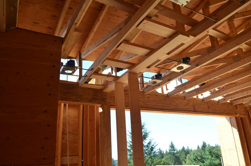 wood-roof-truss-framing-and-interior-partition-wall-framing