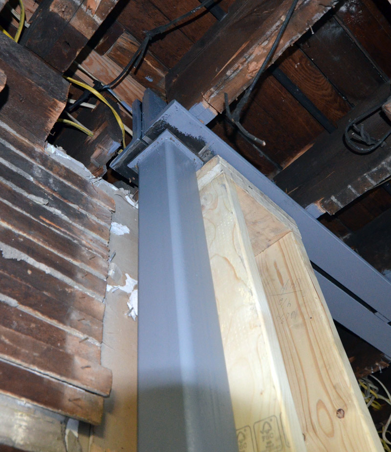 steel-double-l-beam-to-hss-4x4-column-bearing-pittsburgh-house-renovation