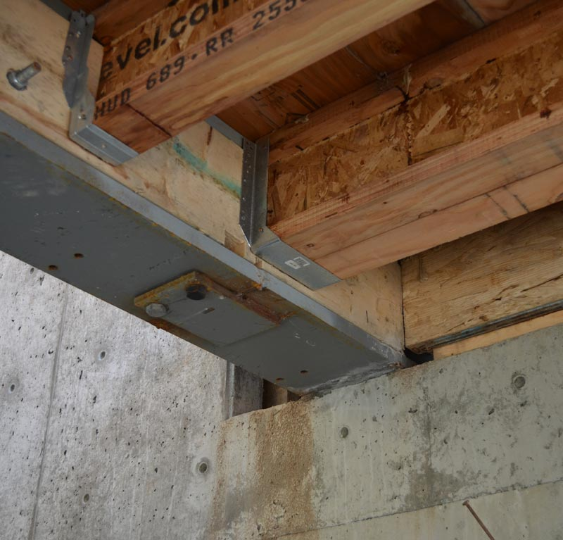 Steel Beam Support Floor Joists Shapeyourminds Com
