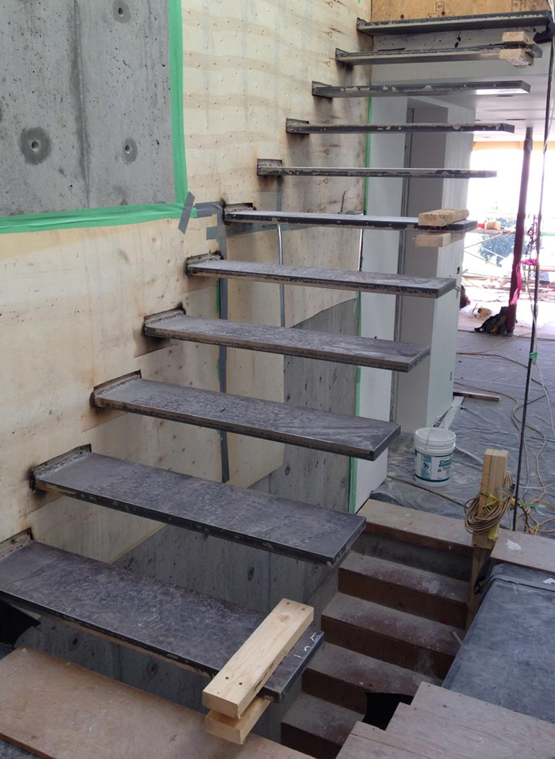 Cantilevered Steel Stair