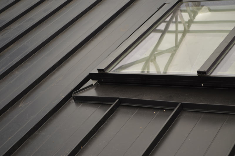 Skylight Over Metal Standing Seam Roof