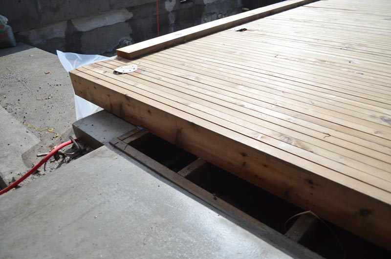 Wood Deck Over Concrete Wall